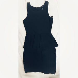BCBG Peplum Little Black Dress bodycon
